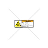 Warning/Hot Surface Label (600-00013-000)