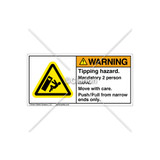 Warning/Tipping Hazard Label (C6762-03)