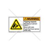 Warning/Tipping Hazard Label (C6762-03)