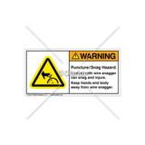 Warning/Puncture Snag Hazard Label (314541)