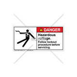 Danger/Hazardous Voltage Label (5025-19DHPJ Wht)