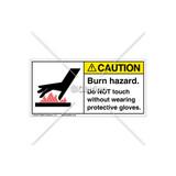 Caution/Burn Hazard Label (1024-KRCHPJ)