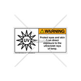 Warning/Protect Eyes Label (6123-237WHPJ)