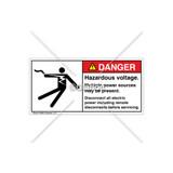 Danger/Hazardous Voltage Label (5025-61DHPJ Blk)
