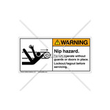 Warning/Nip Hazard Label (5087-7XWHPJ)