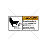 Warning/Rotating Shaft Label (1006-R4WHPJ Wht)