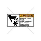 Warning/Rotating Cutter Head Label (1007-L7WHPJ Wht)