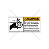 Warning/Exposed Moving Parts Label (1009-34WHPJ)