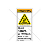 Warning/Burn Hazard Label (H6043-MXWVPJ)