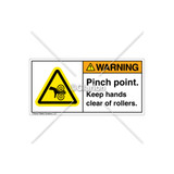 Warning/Pinch Point Label (H1018-PXWHPJ)