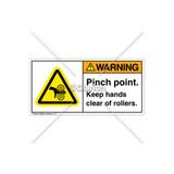 Warning/Pinch Point Label (H1018-PXWHPJ)