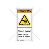 Warning/Pinch point Label (H1018-PXWVPJ)