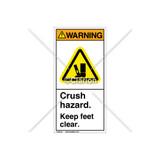 Warning/Crush Hazard Label (H2001-CXWVPJ)