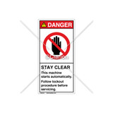 Danger/Stay Clear Label (H6008-44DVPJ)
