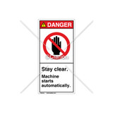 Danger/Stay clear Label (H6008-KDDVPJ)