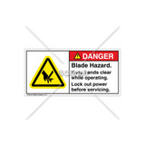Danger/Blade Hazard Label (H1000-193DHPJ)