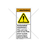 Warning/Automated Machinery Label (H6014-GCWVPJ)