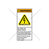 Warning/Arc Flash And Shock Label (H6010-T73WVBJ)