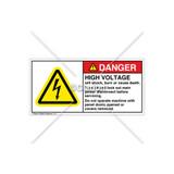 Danger/High Voltage Label (H6010-355DHPJ)