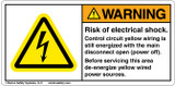 Warning/Risk of Electric Shock Label (H6010-B47WHPJ)