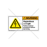 Warning/Hazardous Voltage Label (H6010-19WHPJ)