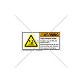 Warning/High Temperature Label (C25054-01)