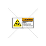 Warning/High Pressure Label (C25054-02)