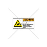Warning/Moving Machine Parts Label (C25054-03)