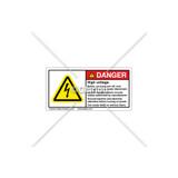 Danger/High Voltage Label (C25054-05)
