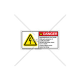 Danger/Hazardous Voltage Label (C3235-02)