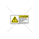 Caution/Rish of Electric Shock Label (C5758-21)