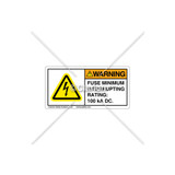 Warning/Fuse minimum Label (C5758-22)