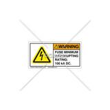 Warning/Fuse minimum Label (C5758-22)
