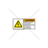 Warning/Hazardous Voltage Label (C5216-01)