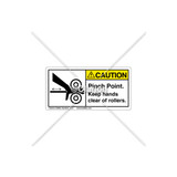 Caution/Keep Hands Clear Label (1056-F95CHPK)