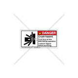 Danger/Crush Hazard Label (5013-DPDHPK Wht)