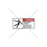 Danger/Hazardous Voltage Label (5025-23DHPK Wht)