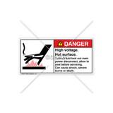 Danger/High Voltage Label (1238-5RDHPK Wht)