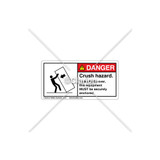 Danger/Crush Hazard Label (5135-RHDHPK Wht)
