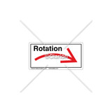 Curved Arrow/Right Rotation Label (7804A-03HPK)
