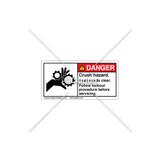 Danger/Crush Hazard Label (1014-31DHPK Wht)
