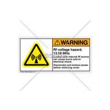 Warning/Rf Voltage Hazard Label (H6027-436WHPK)