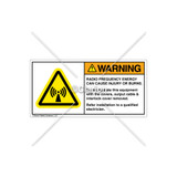 Warning/Radio Frequency Energy Label (H6027-8JWHPK)