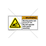 Warning/Moving Parts Can Pinch Label (H1012-SKWHPK)