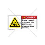 Danger/Blade Hazard Label (H1039-17DHPK)