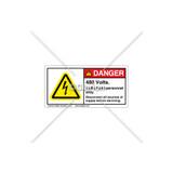 Danger/480 Volts Label (H6010-D19DHPK)