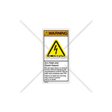 Warning/Arc Flash And Shock Label (H6010-T73WVBK)