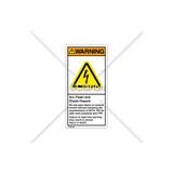 Warning/Arc Flash And Shock Label (H6010-T73WVBK)