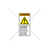 Warning/Automated Machinery Label (H6014-GCWVPK)