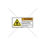 Warning/Flammable Gases Label (H6020-299WHPK)